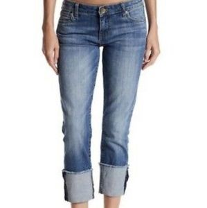 Kut from the kloth Cameron straight leg cuff jeans